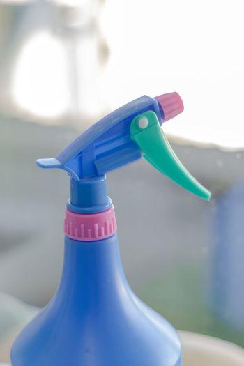 Close-up of blue bottle
