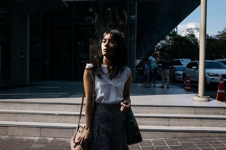 Bangkok Thailand. Streetphotography Yoonjeongvin Young Women Front View Posing