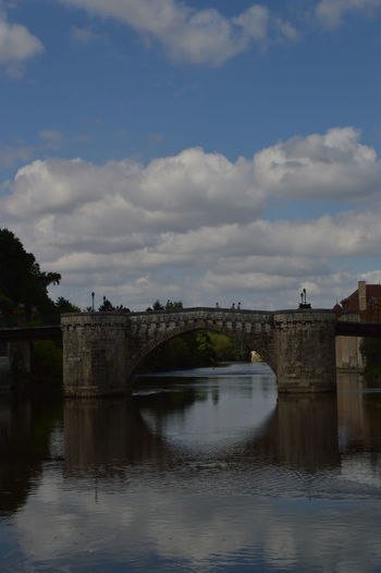 Arch Arch Bridge Architecture Bridge Bridge - Man Made Structure Building Exterior Built Structure City Cloud Cloud - Sky Cloudy Connection Day Engineering Outdoors River Scenics Sky Tourism Town Tranquil Scene Tranquility Travel Destinations Water Waterfront