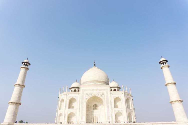 Taj Mahal Mosque Islamic Travel India Symetrical Agra Achitecture 7 Wonders Of The World at Agra - India