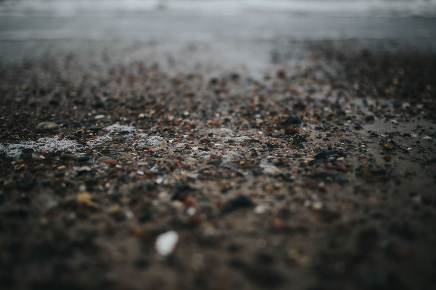 Soft Tiny Close Up Close-up Day Depth Of Field Foam Nature No People Outdoors Sand Sea Stones Stones & Water Water Waves