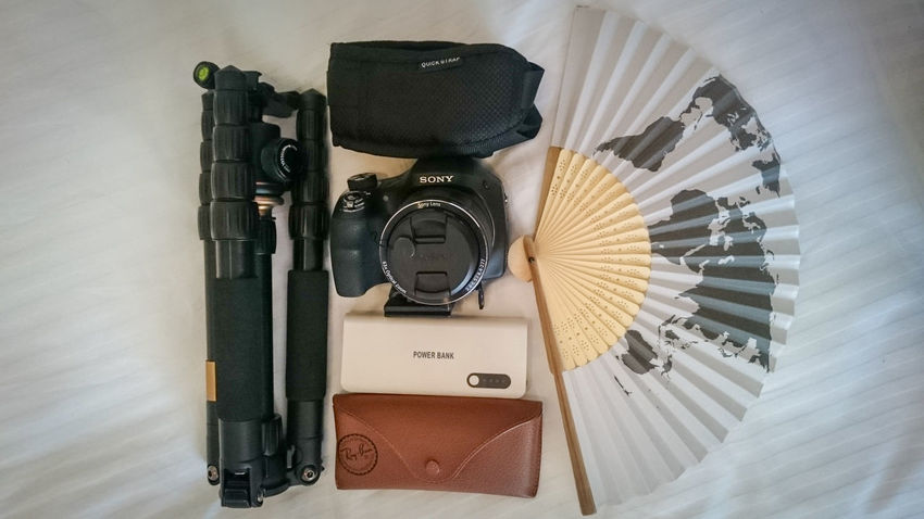 Travel Photography Gears Travel Photography Travel Destinations Traveller Camera Camera - Photographic Equipment Zoom Lense DSLR Bridge Camera Tripod 360 Tripod Tripod Photography Camera Strap Powerbank Rechargeable Shades Sunglasses Eyemphotography World Map Hand Fan No People Day Close-up