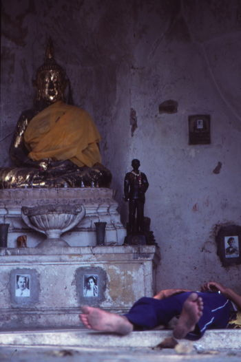 1986 Architecture Bangkok Feet History Lying Old Religion Sleeping With Buddah Spirituality Statue Temple Thailand Spotted In Thailand