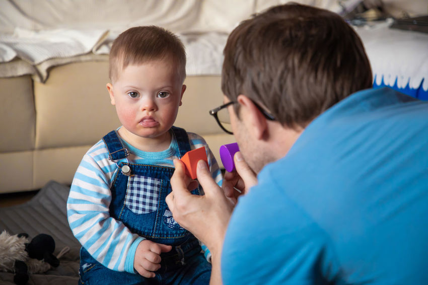 Babyboy Adult Boys Care Casual Clothing Child Childhood Down Syndrome Family Family With One Child Headshot Indoors  Innocence Males  Men Mental Health  Offspring People Portrait Real People Son Togetherness