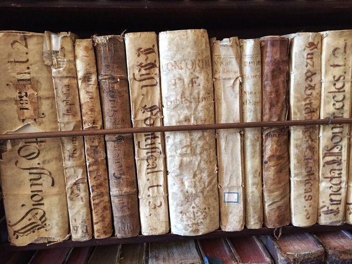 Old books Book In A Row Bookshelf Library B&Bs Grand Adventure Mallorca Valldemossa