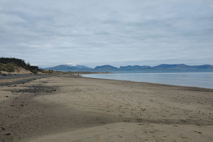 Beach Beauty In Nature Cloud - Sky Day Landscape Mountain Nature Nature Reserve No People Outdoors Sand Sand Dune Scenics Sea Sky Snowdonia Tranquil Scene Tranquility Vacations