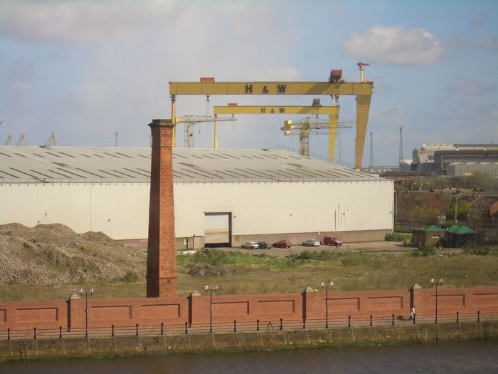 Architectural Column Architecture Belfast Built Structure City City Life Cloud Cloud - Sky Cloudy Cranes Day Exterior Grass Harland And Wolff Harland&Wolff Industrial Industrial Landscapes Industrial Photography Nature Outdoors Sky Tourism Travel Destinations