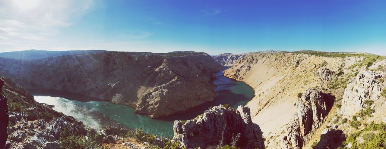 Nice view canyon beautiful nature