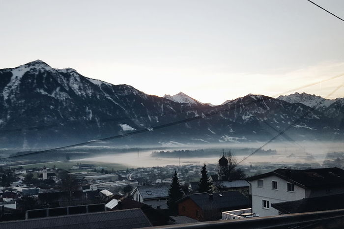 Foggy Thüringen in Austria on Christmas Day. Austria VSCO Heimat Home Vorarlberg  Fog Snow House Building Exterior Cold Temperature Architecture Beauty In Nature Nature Sky Outdoors