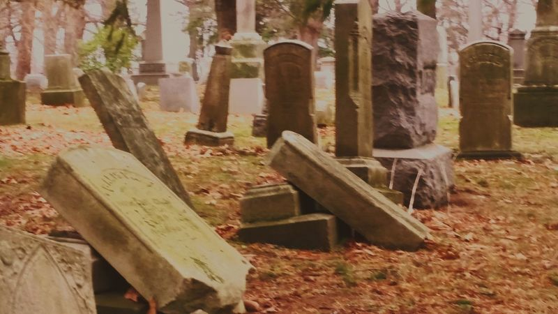 Tombstone Cemetery Graveyard No People Outdoors Day Desolate Broken Down Broken Dreams Broken Pieces The Past Grave North East, Pa Spooky Places Dead Trees Lonley Nights & Cold Hearts.