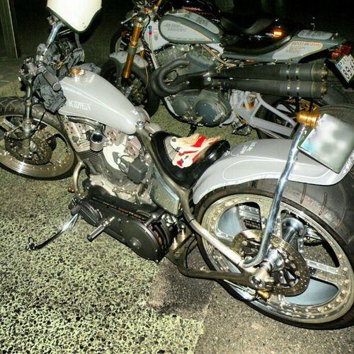 old photo cool-breaker-night Harleydavidson Hotdockcustom Chopper Bobber