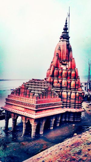 Architecture History Sky Built Structure Sea Water Travel Destinations No People Sunset Outdoors Building Exterior Statue Day Varanasi Marnikarnika Photography