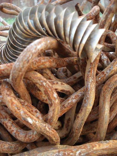 Drill Shavings Altes Eisen Metal - Scrap Rost Bent Metal No People Rust - Iron Rusty Spiral Spirale Verbogen