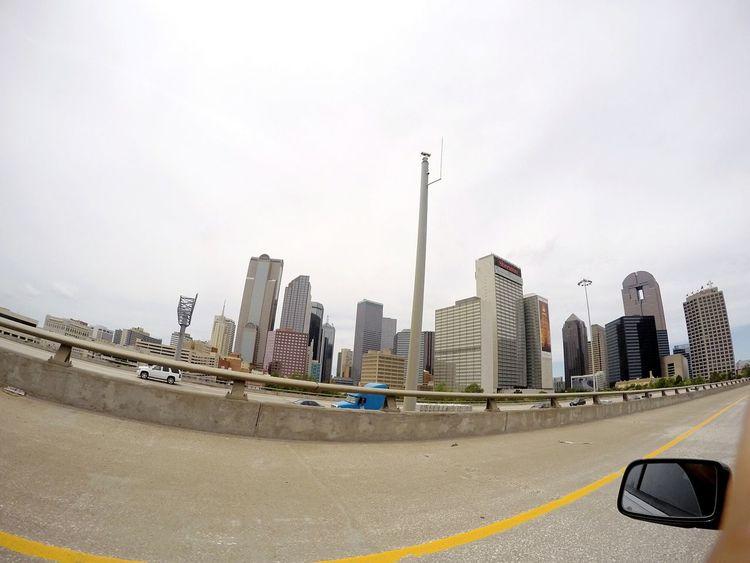 Downtown Dallas Tx Architecture City Fish Eye Lens