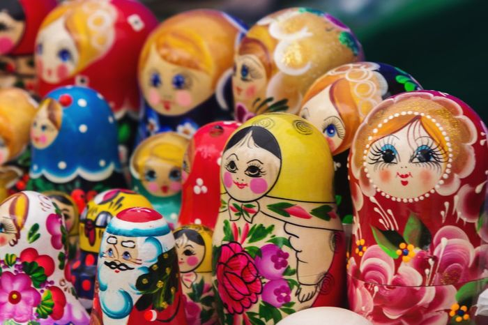 Русские матрёшки. Matreshkas 😀 Russia Matreshka матрёшки Wooden Toys Art Handmade Colorful Canon 60d Canon Bright For Sale Multi Colored Market Close-up Variation Arts Culture And Entertainment No People Doll Hanging Day