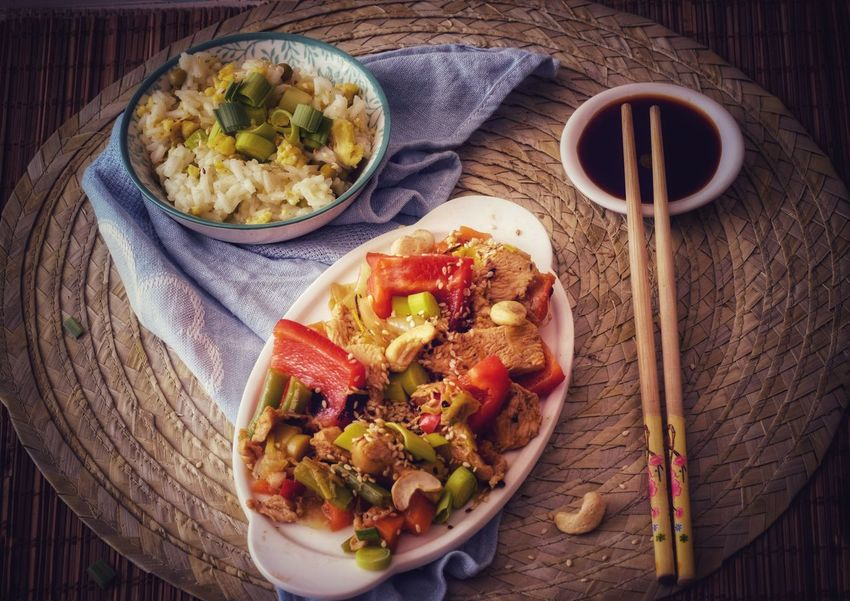 Chopsticks Egg Peacock Rice - Food Staple Table Setting Asian  Healthy Food Vegetables EyeEm Selects Food And Drink Food High Angle View No People Indoors  Healthy Eating Vegetable Freshness Ready-to-eat Homemade Day Vegetarian Food Close-up Plate Table Indoors