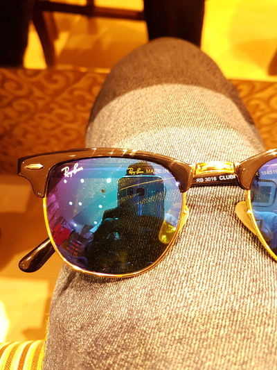 Rayban Wayfarers Clubmaster Sunglasses Popular Photos HDR First Eyeem Photo Yellow Classic Nostalgia Blue Multi Colored Mercury Frame Gold Original Italy