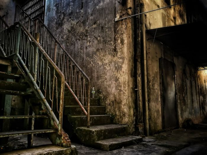 Staircase Architecture Steps Steps And Staircases Built Structure No People Day Outdoors Backalley