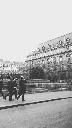Paris Black & White Rock N Roll People walking on the street...