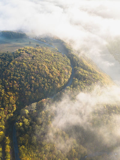 just some fog over Germanys roads Beauty In Nature Scenics - Nature Cloud - Sky Nature Tranquility Sky No People Idyllic Landscape Fog Land Aerial View Outdoors Foggy Mood Calm Road Mountain Sunset Forest Tranquil Scene Non-urban Scene Tree Autumn Plant