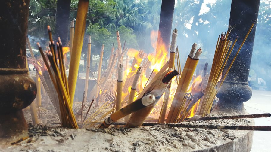 EyeEm Selects Burning Heat - Temperature No People Day Nature Outdoors Close-up Sky UnderSea Lifestyles Beauty In Nature Nature Relaxation Vacations Incense Sticks Incense Incense Burner Cultures Culture Tradition Chinese Culture Chinese HongKong Hong Kong