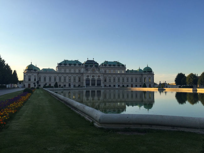 Schloss Belvedere / Belvedere Palace / Vienna Architecture Architecture Austria Belvedere Building Exterior Built Structure Castle City Clear Sky Day Flower Natural No People Outdoors Palace Palace Garden Politics And Government Schloss Sky Sunset Vienna Water Water Reflections Water Surface Waterfront