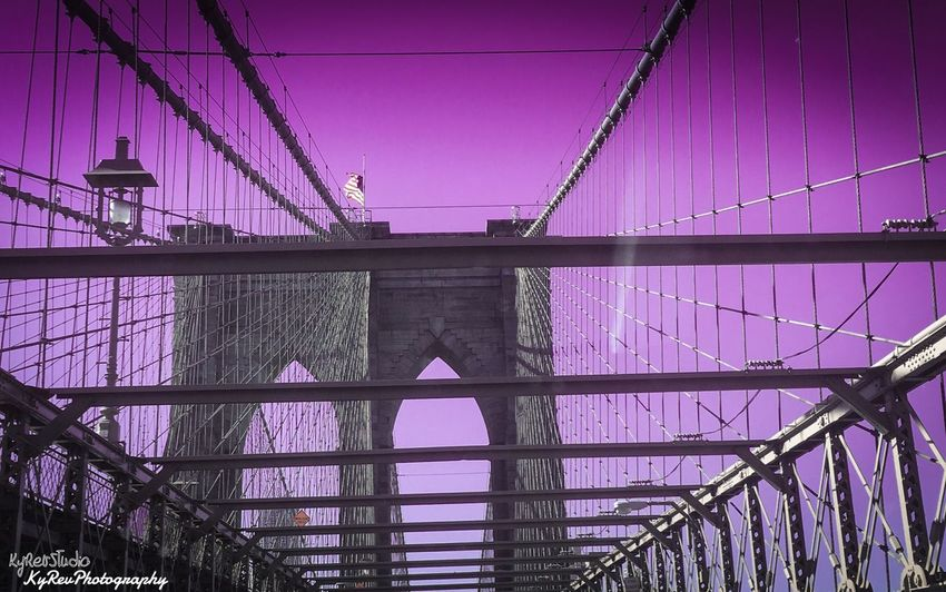 Royal Sky. Views Purple Sky Brooklyn Bridge / New York Bridge Wonderful Adobe Lightroom Taking Photos Lightroom Cc Working Editedbyme Wicked Awesome Join The Revolution Eye4photography  Join Our Revolution Shot On IPhone 6s Photo By Me KyRevPhotography Lightroom New York