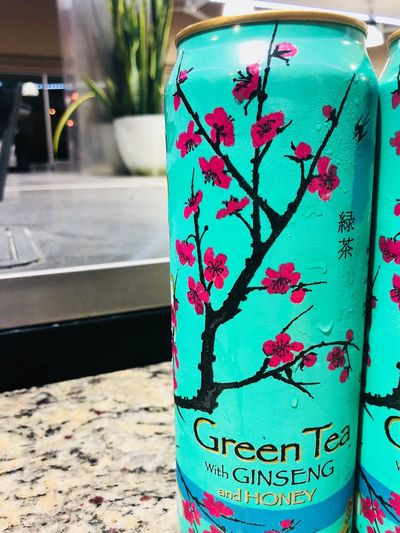 Drink Ginsenghoney Arizona Green Tea ❤️ Close-up Day No People Indoors