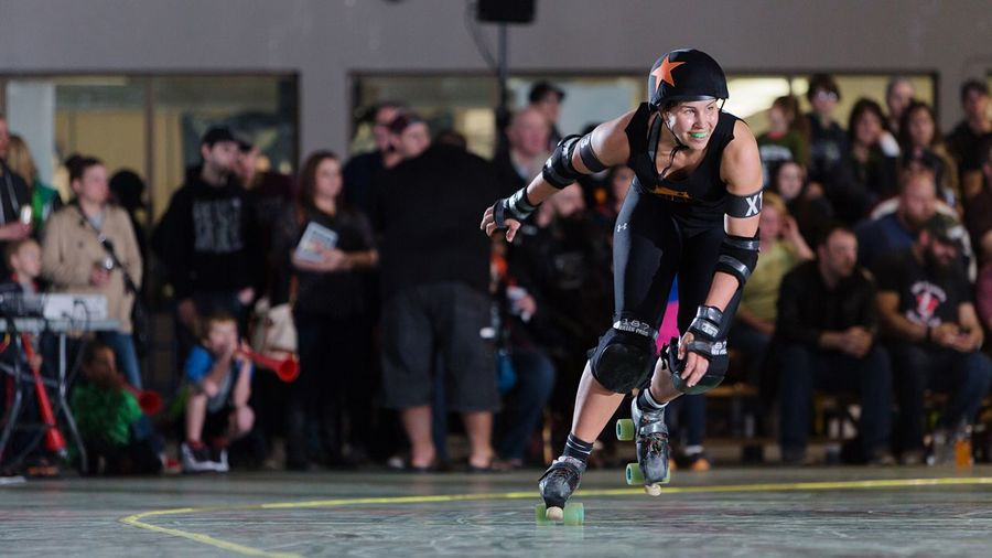 Living Bold Roller Derby Sports Photography Canon 5D Mark III Strobist Women In Sports Athletics Off Camera Flash