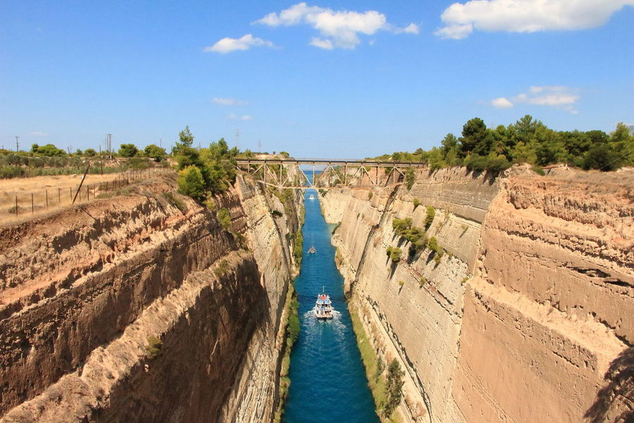 Corinth Canal Greece GREECE ♥♥ Corinth Greece Corinth Bridge Bridge Bridge View Bridge Over Water Bridge - Man Made Structure