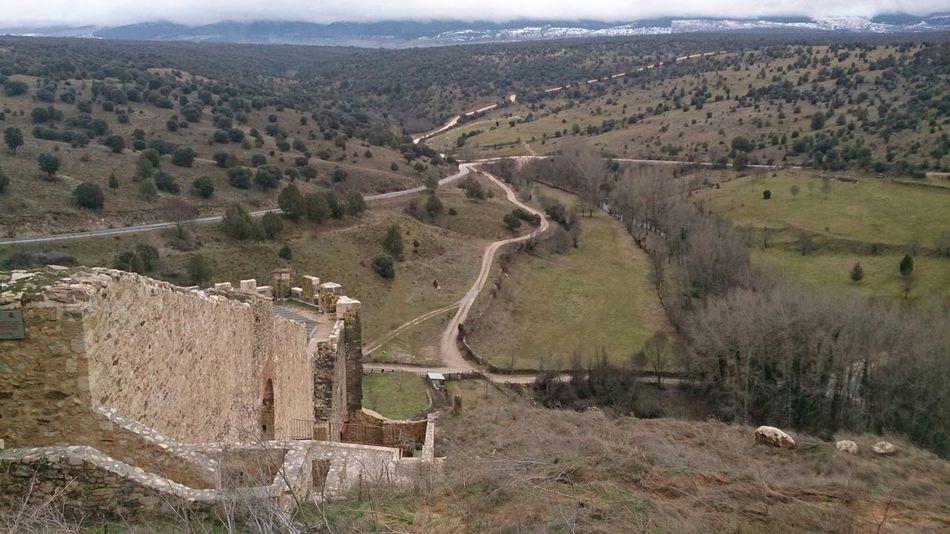 Un Paisaje bonito cerca del Pueblo de Pedraza
