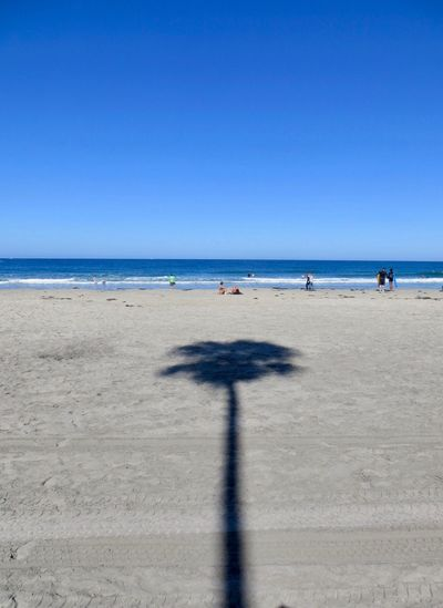 Beach Sand Sea Horizon Over Water Copy Space Shadow Day Clear Sky Sunlight Nature Water Scenics Outdoors Beauty In Nature Sky No People Blue Blue Sky La Jolla Beach La Jolla Shores La Jolla Been There. California Dreamin