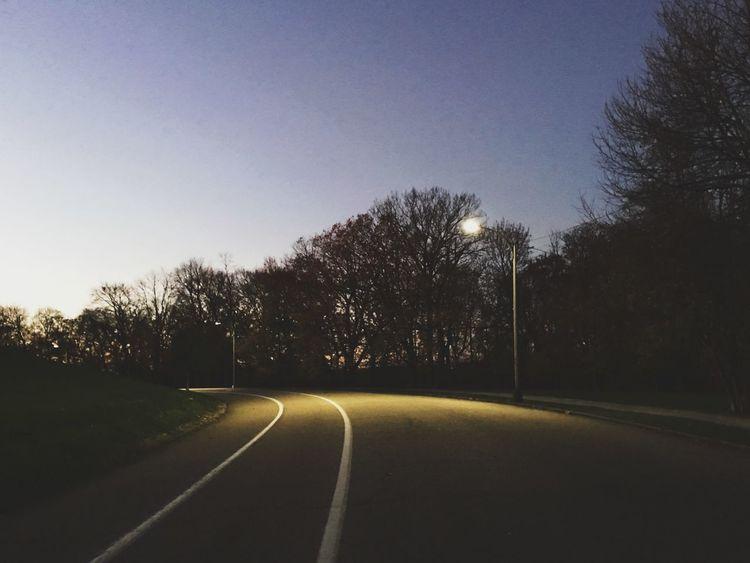 Dusk Road Light Dark Darkness And Light