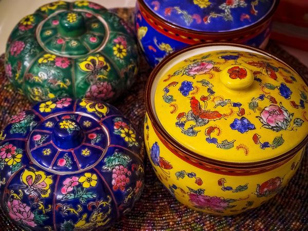Antique porcelain china colorful pattern China Jar Artistic Expression Hand Made Old Times... Creative Light And Shadow Relaxing Moments From My Point Of View Check This Out Details Textures And Shapes