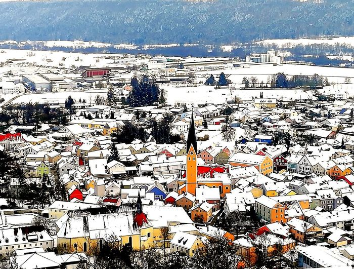 Landleben&Heimatliebe religious curch view from above View Dietfurt altmühltal colour of life Eyem Best Shot - My World Religious  Curch View From Above View Dietfurt Altmühltal House Winter Wintertime Winter Wonderland City Small Colorful Colerfull No People Day Nature