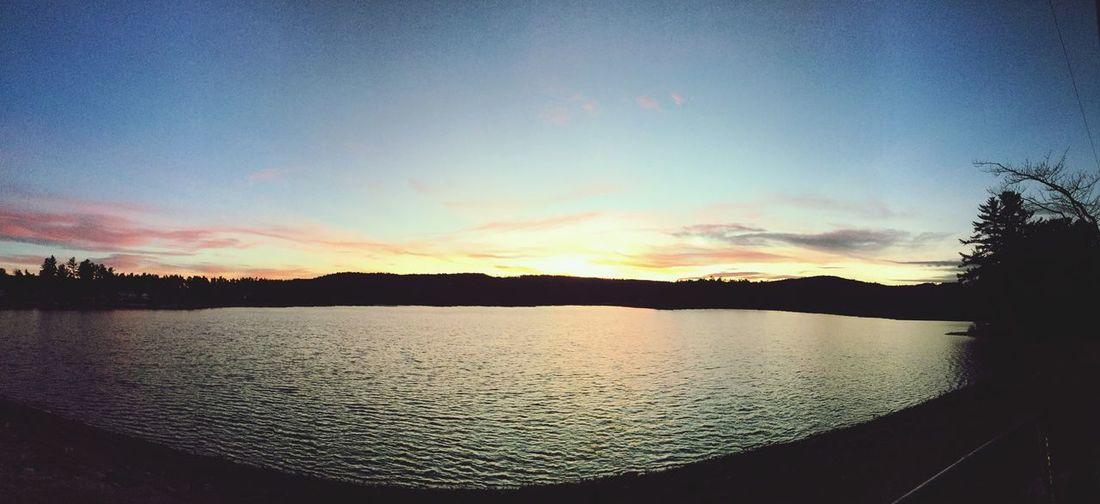 Fall sunset on