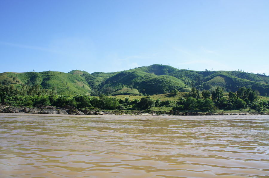 Beauty In Nature Clear Sky Day Mekong Mekong River Nature No People Outdoors River Cruise River View Riverscape Riverside Scenics Sky Tree Water