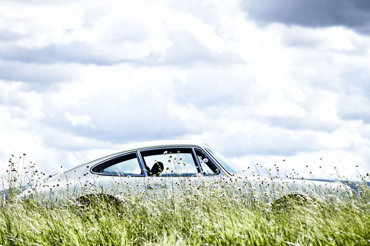 911 912 Car Classic Car Cloud - Sky Day Field Grass Growth Mode Of Transport Nature No People Oldtimer Outdoors Porsche 911 Porsche 912 Porsche 918 Spyder Sky Transportation