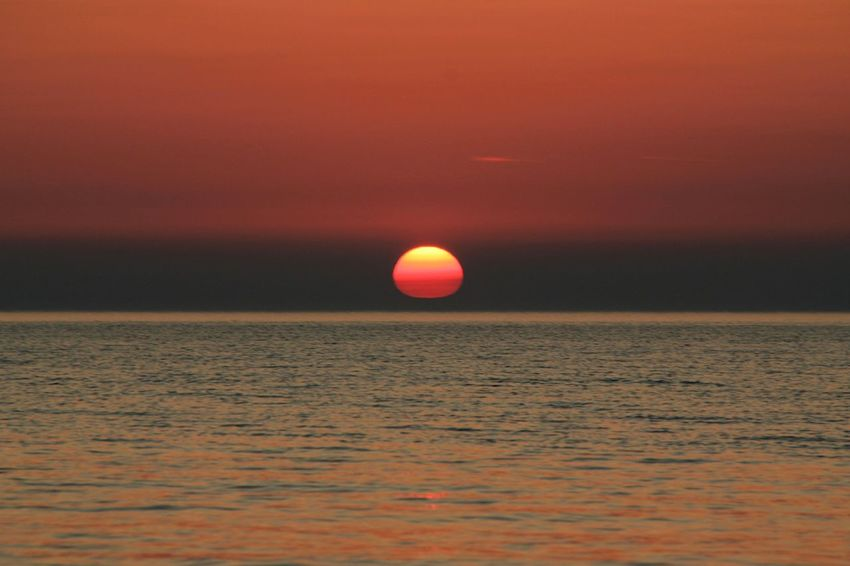 Perfect sunset... Red Sunset Baltic Sea Evening Tranquility Water Sea View Astronomy Water Sea Sunset Multi Colored Red Horizon Sun Reflection Romantic Sky Seascape Coast Horizon Over Water Dramatic Sky Atmospheric Mood Coastal Feature