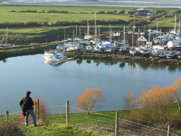 England, UK Marina Somerset England UphillVillage Beauty In Nature Day Full Length Grass Lake Leisure Activity Men Nature One Person Outdoors People Real People Rear View Scenics Sky Standing Tranquil Scene Tranquility Tree Water