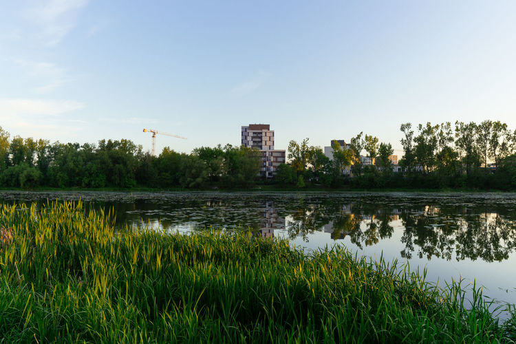 Sony A6000 Poland Plant Water Sky Reflection Lake Architecture Nature Growth Built Structure Grass No People Tree Tranquility Building Exterior Outdoors Beauty In Nature Landscape Building City