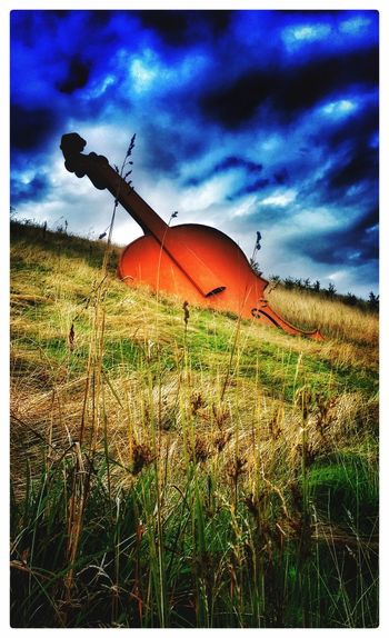 Buried Bass Landscapes Musical Instruments ArtWork