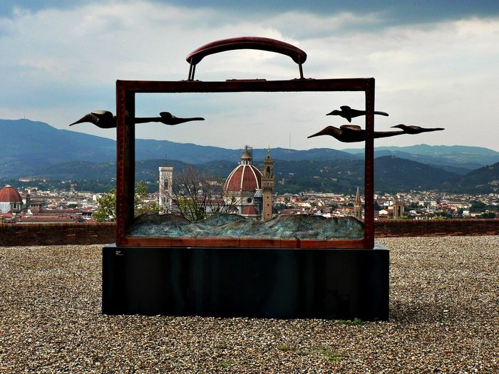 Empty Bag Background Bag With Birds Birds Cloud - Sky Exibition Forte Belvedere Florence No People Outdoors Panorama Panoramic View Santa Maria Del Fiore, Florence Sky Small Stones