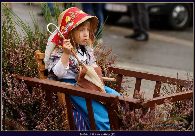 Vintage Charette Childhood Child One Person Girls Real People Hat Day Casual Clothing Looking Clothing