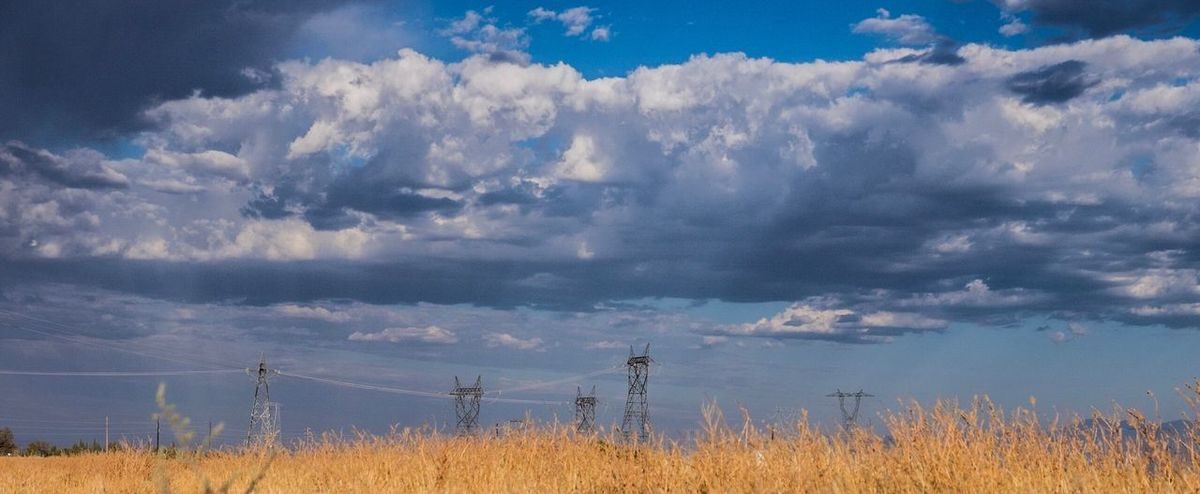 EyeEm Selects Sky Cloud - Sky Nature Tranquil Scene Field No People Tranquility Day Beauty In Nature Electricity Pylon Power Line  Outdoors Growth Landscape