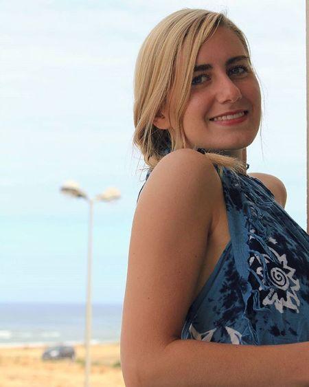 Blue Outside Summertime Summer vacation sea ocean france mimizanplage sun missingsummer bluedress blonde smiling girl fun tbt fernweh goodtimes