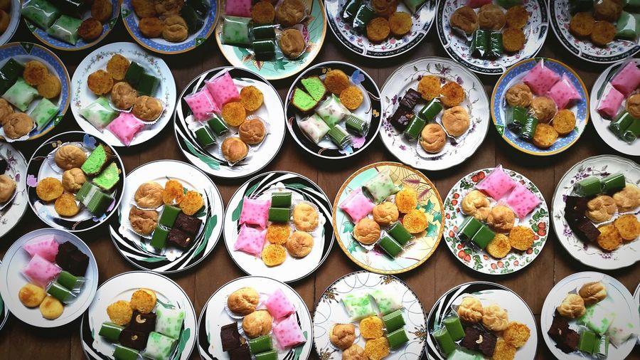 Full frame of food