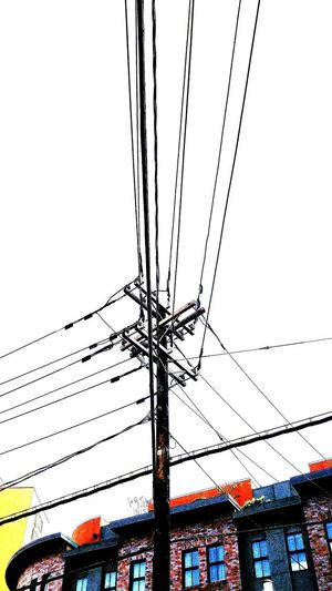 Full Frame Urban Geometry Weehawken Nj Lookingup Pattern, Texture, Shape And Form Point Of View Pattern Pieces Above Ground Wires Important Pole Lines