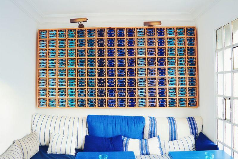Salon Bleu Blue Tanger  Kasbah Silk Morocco