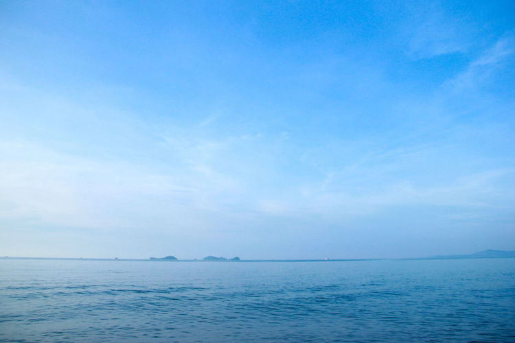 Sea Water Sky Horizon Horizon Over Water Tranquil Scene Tranquility Scenics - Nature Beauty In Nature Blue Cloud - Sky Nature No People Day Urban Skyline Copy Space Idyllic Seascape Outdoors